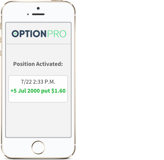 Option PRO Program Text and Email Trade Alerts