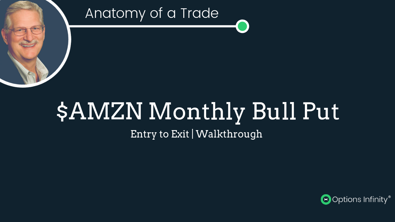 Amazon Monthly Bull Put - Trade Walkthrough