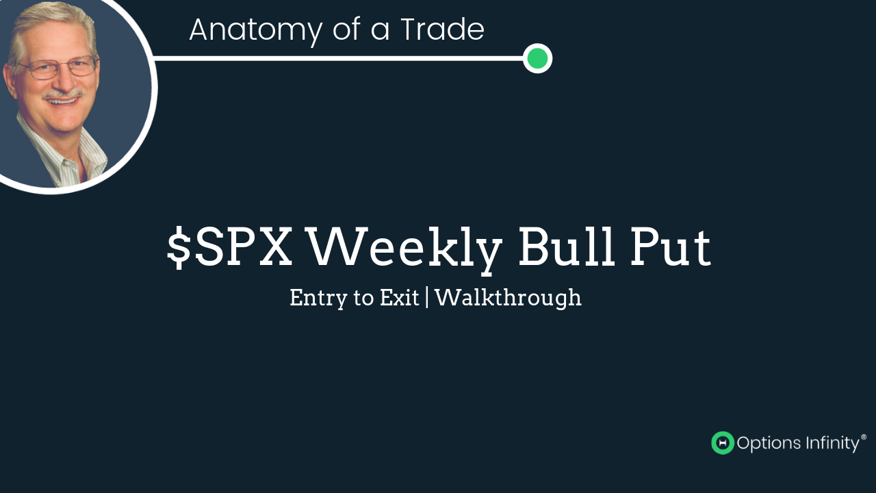 SPX Weekly Bull Put Spread - Trade Closed on 8-8-19
